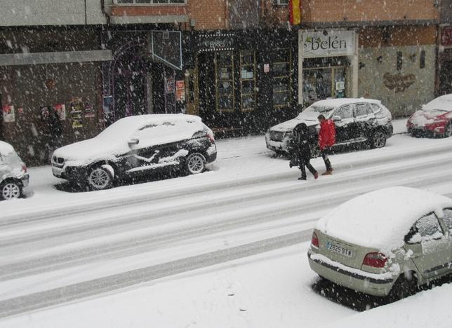Nieve en Guardo.