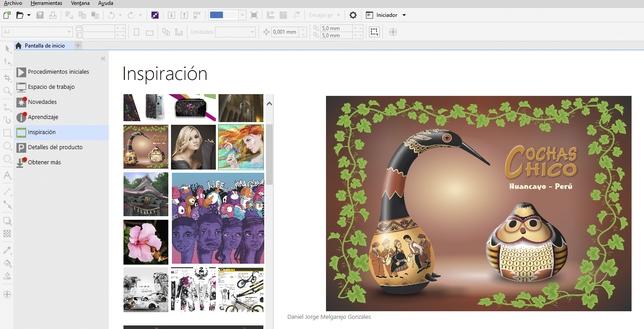 Una de las pantallas de presentación al iniciar el programa