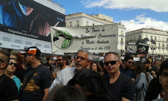 Manifestación en defensa del lobo, celebrada el domingo en Madrid Cedida por representación abulense