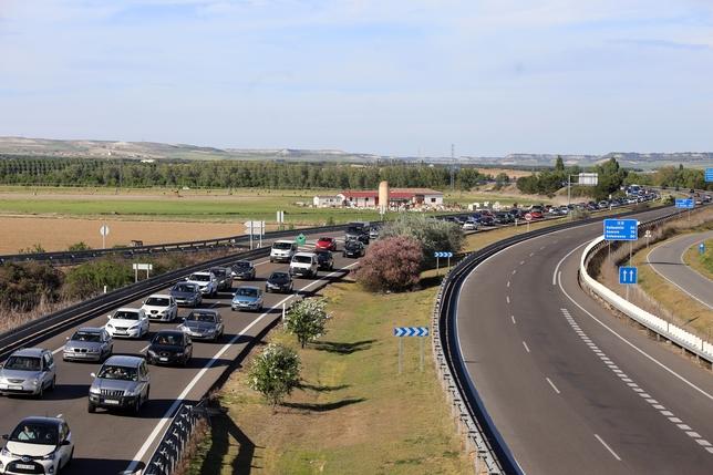 Retenciones en la A6 a la altura de Tordesillas