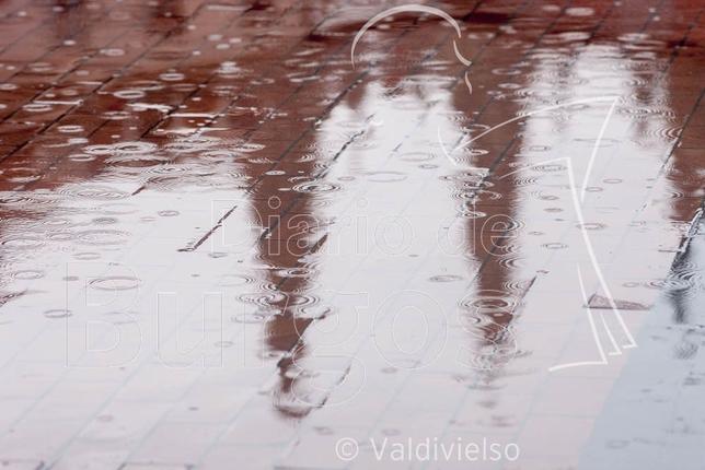 La lluvia llegó a Burgos