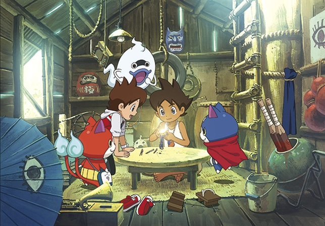 Recreación de una de las aventuras de Yo-Kai Watch