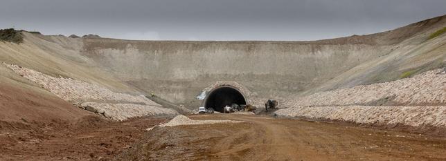 El túnel de Estépar ya está tapado hasta igualar el nivel de la montaña
