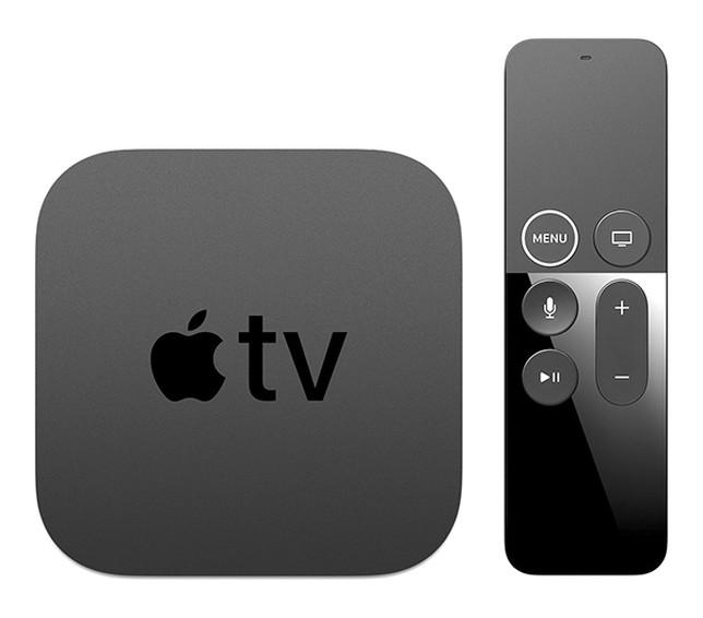 Apple TV con su mando a distancia