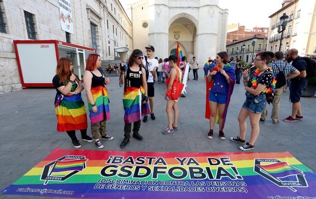 Manifestación para revindicar la diversidad sexual y derechos para el colectivo LGBTI
