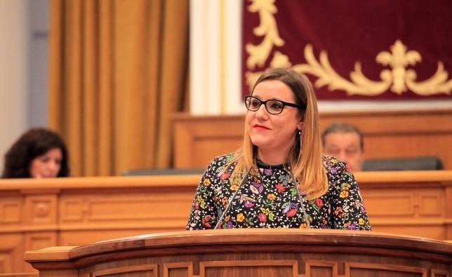 María Díaz, diputada de Podemos en Castilla-La Mancha. CORTES CLM