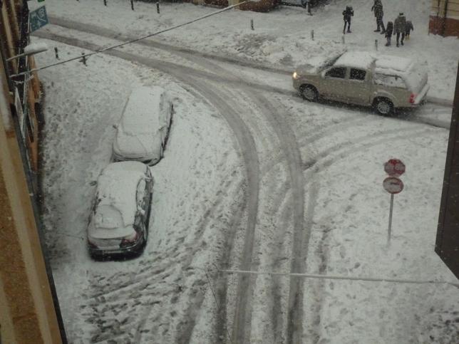 Almansa, en el momento de la gran nevada.
