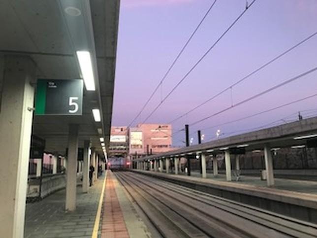 Estación de Segovia, hoy A.M.