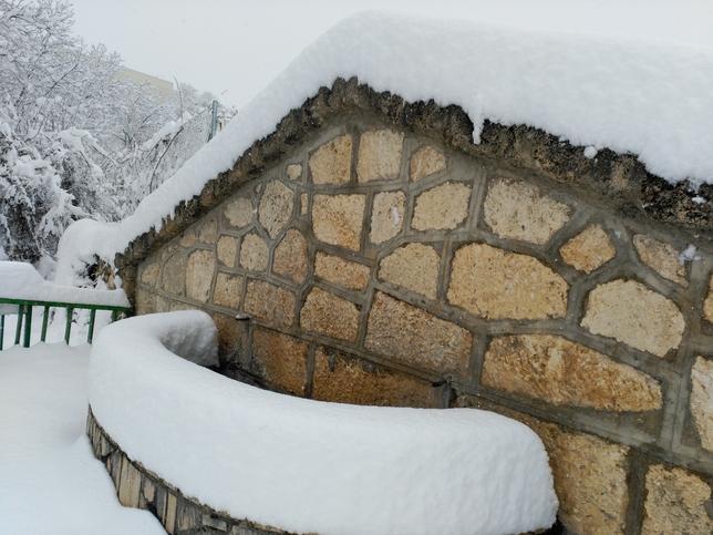 La nevada dejó a Nerpio con un gran manto blanco.