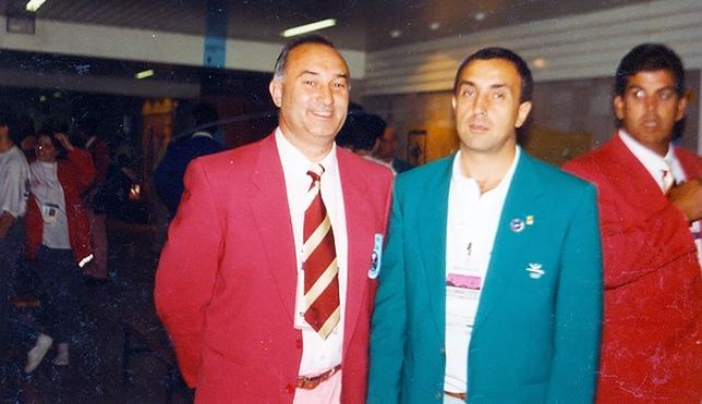 Julio Calleja (i.) con el actual presidente del Comité Olímpico Español, Alejandro Blanco, entonces presidente de la Federación de Judo de Castilla y León. DB