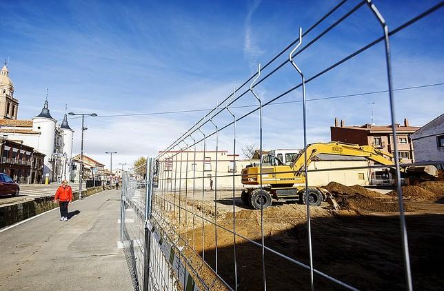 Arrancan las obras de la Plaza Mayor de Rueda