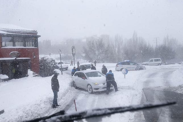 Primera gran nevada del año.