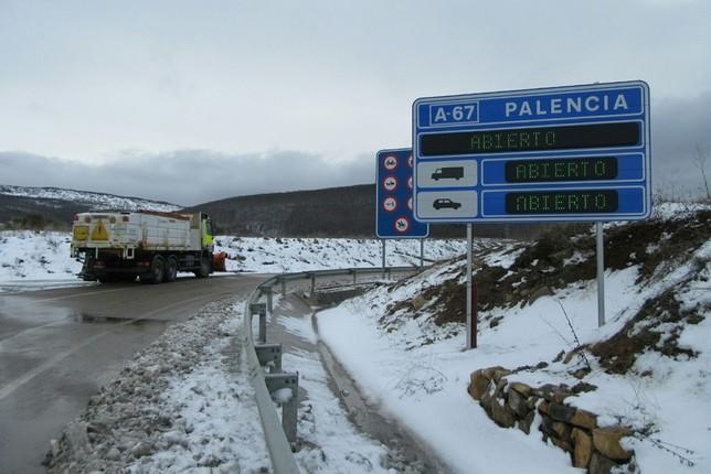Declarada preemergencia por nieve en Palencia