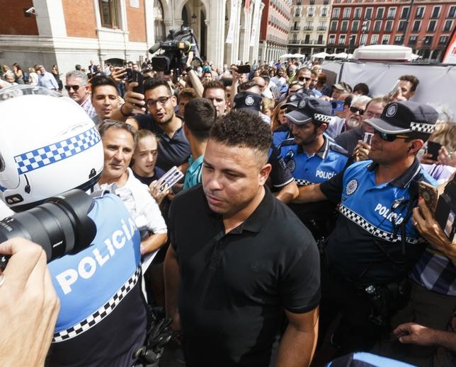 Presentación de Ronaldo como nuevo propietario del Real Valladolid
