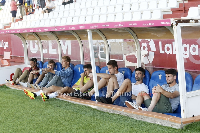 Imagen del partido de Copa celebrado en el Carlos Belmonte