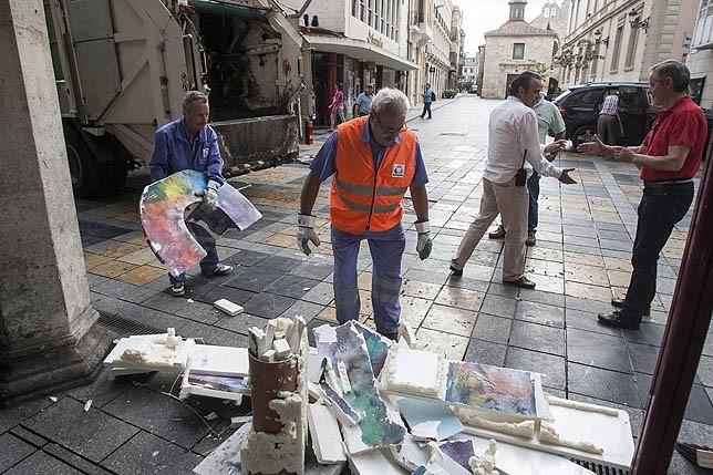 Anulada la multa por el destrozo en 'Palencia con P' de 2014