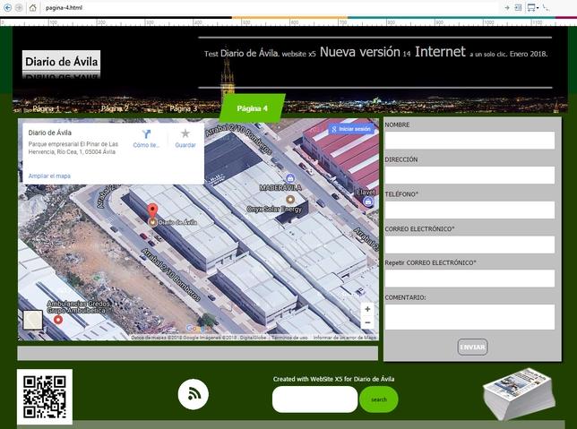 Es muy fácil incrustar mapas de localización, códigos QR y formularios