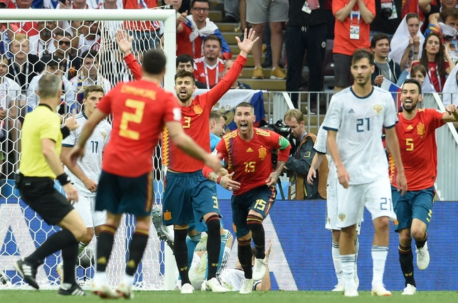 Round of 16 Spain vs Russia
