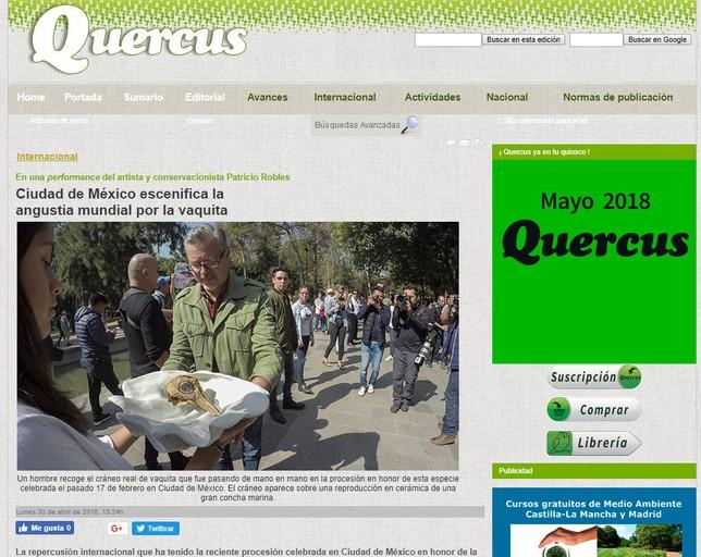 La revista Quercus, también en Internet
