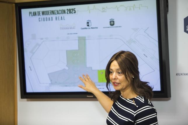 Pilar Zamora informa sobre el Parque de Sanidad