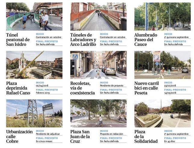 Urbanismo concentra en otoño el grueso de las obras del año