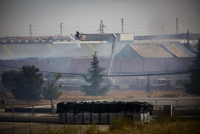 Nave industrial en la que se produjo un aparatoso incendio el pasado sábado