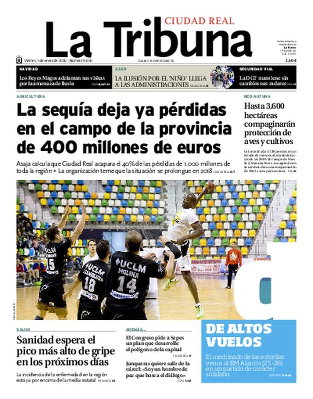 La portada de hoy - La Tribuna de Ciudad Real