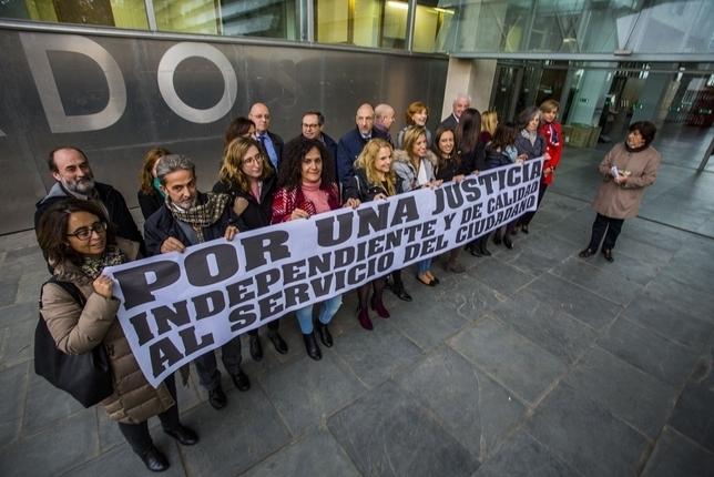 Casi todos los jueces y fiscales, de huelga en Ciudad Real