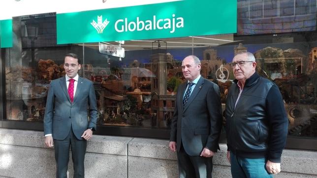Un momento de la presentación del Belén de Globalcaja.