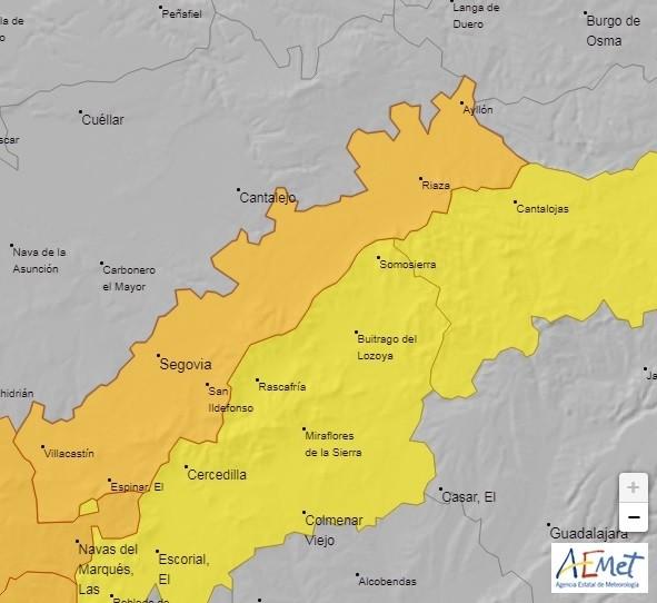 Meteorología prevé vientos de 110 km/h el martes en <h3 class='enlacePalabraNoticia' onclick='opcionBuscarActualidad('Segovia','')' >Segovia</h3>