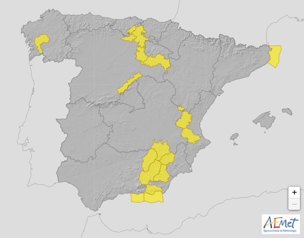 La Aemet activa la alerta por lluvias en <h3 class='enlacePalabraNoticia' onclick='opcionBuscarActualidad('Segovia','')' >Segovia</h3>