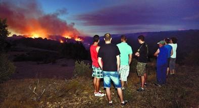 El fuego arrasa unas 700 hectáreas de monte en el valle del Arlanza