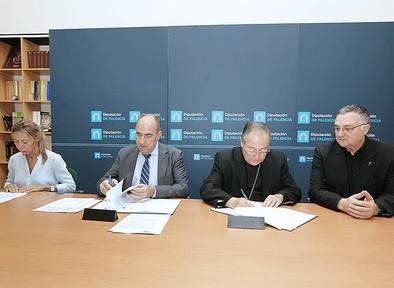 La Diputación aportará al Obispado 180.000 euros para restauraciones