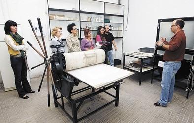 El taller de grabado abre la última ala de La Merced