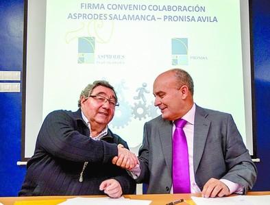 Pronisa y Asproder firman un convenio para la inserción laboral de discapacitados