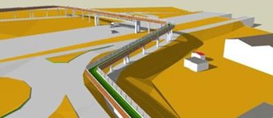 La pasarela comenzará a construirse en enero y estará terminada en abril