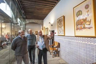 Pintura y escultura de corte simbólico se dan cita en la sede de Diputación