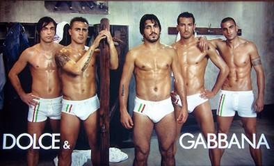 Futbolistas y gayumbos