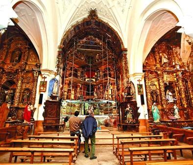 Itero recupera el retablo barroco de San Cristóbal, que amenazaba con caer