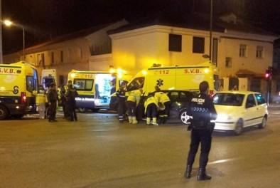 Una ambulancia sufrió un accidente en el Paseo Circunvalación
