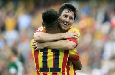 Neymar y Messi se asocian para ganar al Athletic