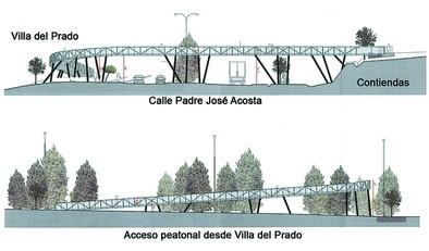La construcción de la pasarela entre Las Contiendas y Villa del Prado empezará a mitad de diciembre