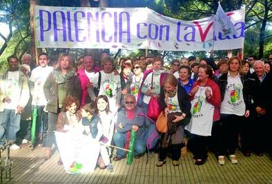 Sesenta y cinco palentinos participan en la manifestación 'Cada vida importa' en Madrid
