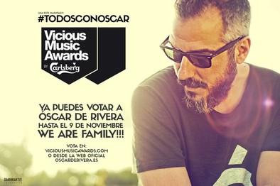 Óscar de Rivera, nominado en los Vicious Music Awards
