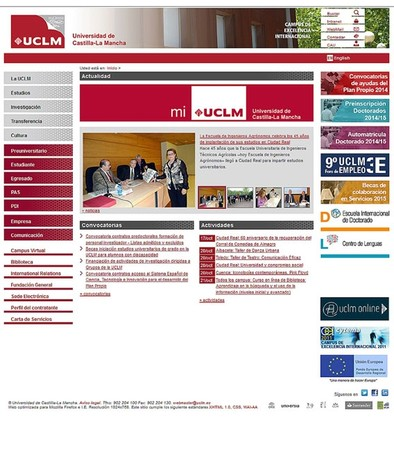 Un informe califica de «opaca» a la Universidad por su página web