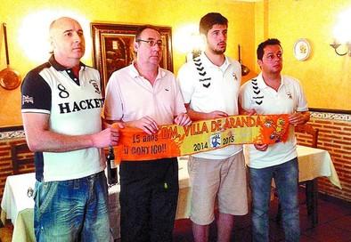 El Villa de Aranda exhibe a uno de sus jugadores franquicia