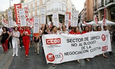 Los sindicatos llevarán al 'Serla' el bloqueo del convenio de limpieza