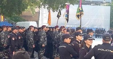El acto central, broche de oro del Día de la Policía