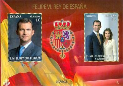 El Día de la Fiesta Nacional de España arropa la primera emisión postal de Felipe VI
