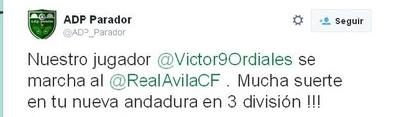 Víctor Ordiales, a prueba esta semana en el Real Ávila